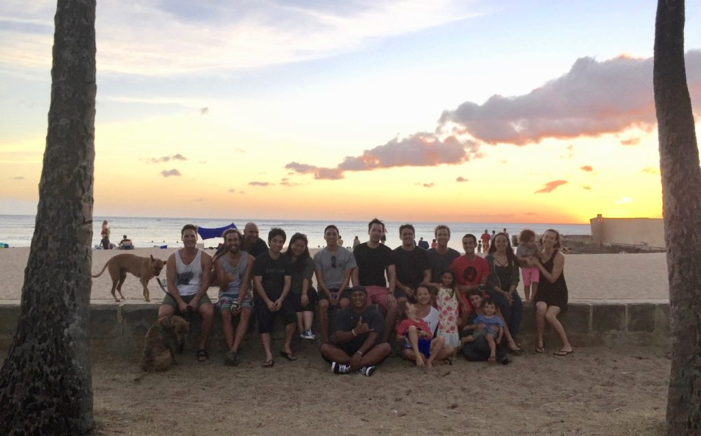 Sunset on the beach with the Hynson and Amend Labs